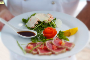 Culinari delights aboard Pwer Catamaran Braveheart